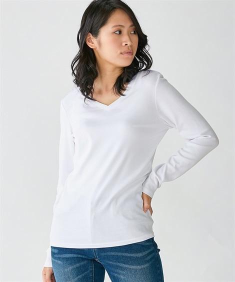 大きいサイズ 綿100%VネックTシャツ ,スマイルランド, plus size T-shirts,