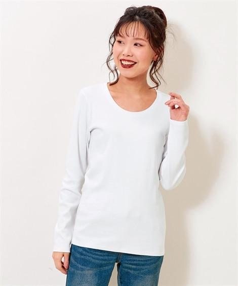 綿100%クルーネックTシャツ (大きいサイズレディース)...
