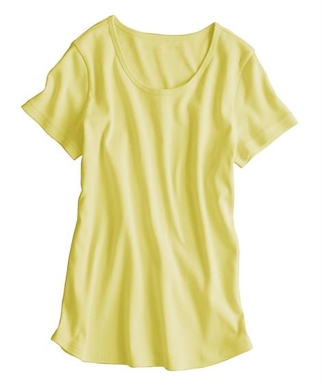 UVカット綿100%フライス素材クルーネック半袖Tシャツ (...