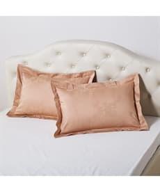 防ダニ。抗菌防臭綿100%サテン地ダマスク柄枕カバー(同色2枚組) 枕カバー・ピローパッドの商品画像