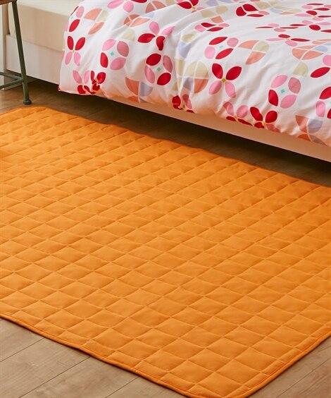 洗えるミニワッフル生地のキルトラグ ラグ, Rugs, 地毯...