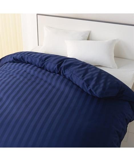 高密度綿100%サテン地ストライプ柄掛け布団カバー 掛け布団カバー, Bedding Duvet Covers(ニッセン、nissen)