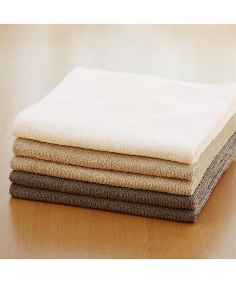 乾きやすいデイリーカラー超薄手バスタオル5枚セット バスタオ...