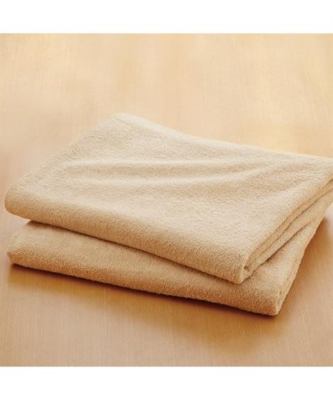 乾きやすいデイリーカラー超薄手大判バスタオル同色2枚セット ...