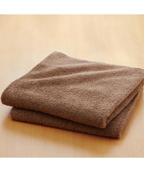 肌ざわりのいいデイリーカラー中厚手バスタオル同色2枚セット ...