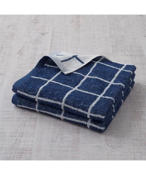 乾きやすいふんわり薄手ジャカード織デザイン同色バスタオル2枚セット バスタオル, Towels(ニッセン、nissen)