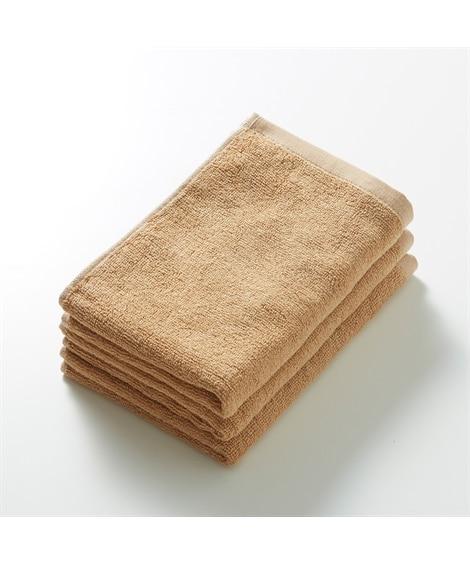 鮮やかカラーの吸水フェイスタオル 同色3枚セット フェイスタオル, Towels(ニッセン、nissen)
