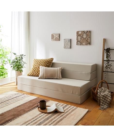 腰部かためのバランス構造 ソファーになる4WAYマットレス ...