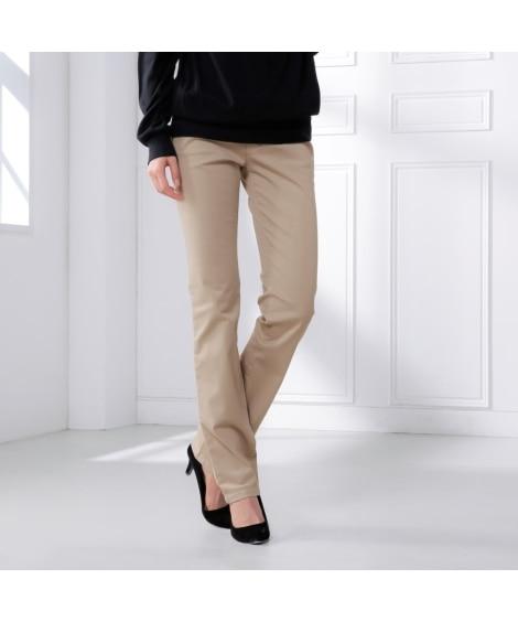 トールサイズ すごく伸びる綿混ストレートパンツ(股下80cm...