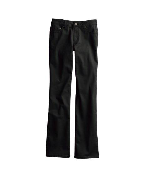すごく伸びる綿混ブーツカットパンツ(股下70cm) (レディ...