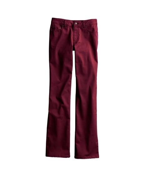 すごく伸びる綿混ブーツカットパンツ(股下74cm) (レディ...