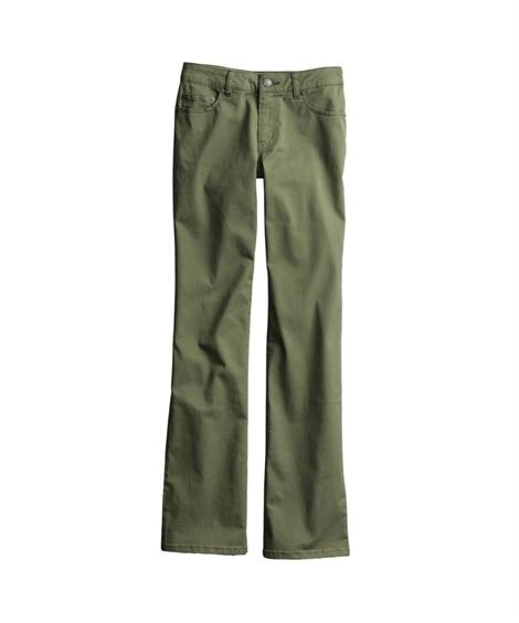すごく伸びる綿混ブーツカットパンツ(股下78cm) (レディ...