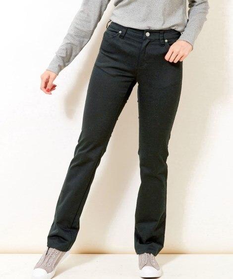 すごのびストレッチツイルストレートパンツ(ゆったり太もも)(股下73cm) (大きいサイズレディース)パンツ,plus size
