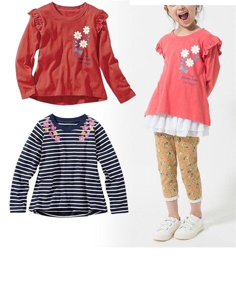 女の子プリントTシャツ2枚組(女の子 子供服。ジュニア服) ...