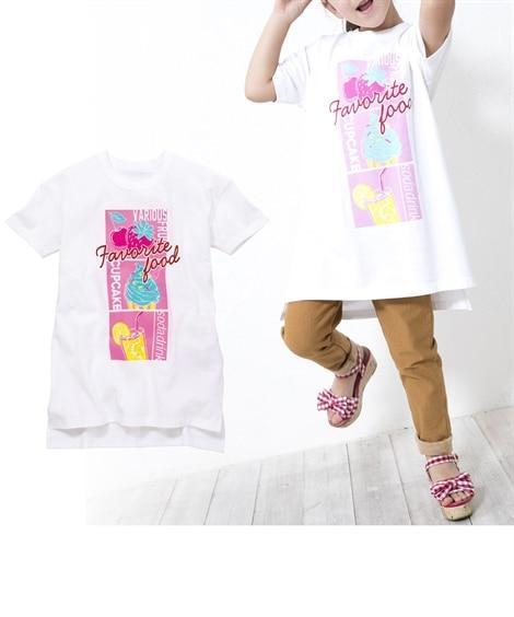 綿100%ゆるシルエットロングTシャツ(男の子。女の子 子供...