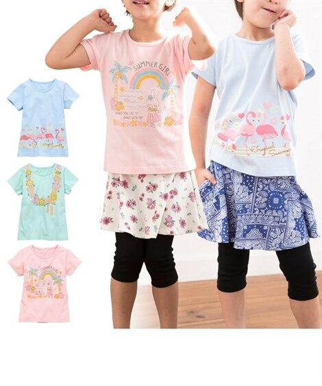 プリントTシャツ3枚組(女の子 子供服。ジュニア服) (Tシ...