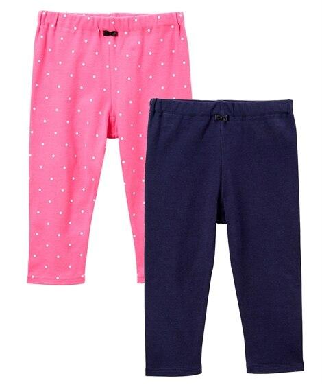 綿100%6分丈レギンス2枚組(女の子 子供服) パンツ, Kids' Pants