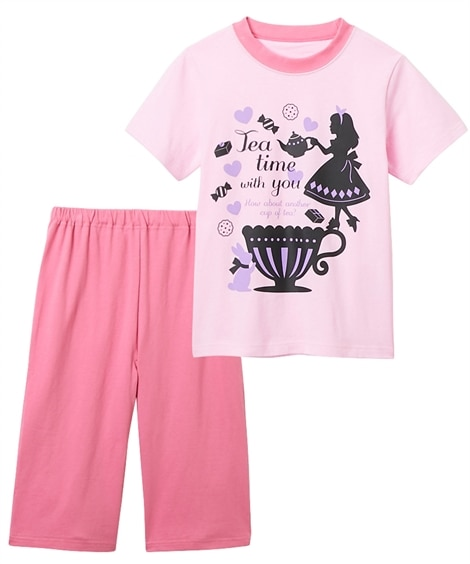 綿100%半袖プリントパジャマ(女の子 子供服 ジュニア服) キッズパジャマ, Kids' Pajamas