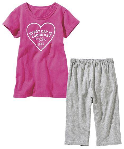 綿100%半袖チュニックルームウェア(女の子 子供服 ジュニア服) キッズパジャマ, Kids' Pajamas