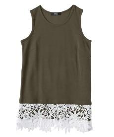 <ニッセン> 5分袖刺しゅうドロップショルダーカットソートップス (大きいサイズレディース)Tシャツ・カットソー 8
