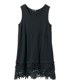 <ニッセン> 5分袖刺しゅうドロップショルダーカットソートップス (大きいサイズレディース)Tシャツ・カットソー 9