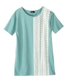 <ニッセン> 5分袖テレコ素材トップス (大きいサイズレディース)Tシャツ・カットソー 16
