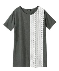 <ニッセン> 5分袖刺しゅうドロップショルダーカットソートップス (大きいサイズレディース)Tシャツ・カットソー 19