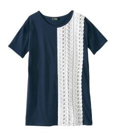 <ニッセン> 5分袖刺しゅうドロップショルダーカットソートップス (大きいサイズレディース)Tシャツ・カットソー 20