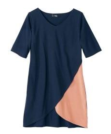 <ニッセン> 5分袖テレコ素材トップス (大きいサイズレディース)Tシャツ・カットソー 23