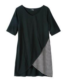 <ニッセン> 5分袖テレコ素材トップス (大きいサイズレディース)Tシャツ・カットソー 24