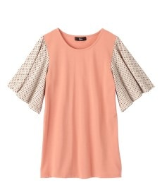 <ニッセン> 5分袖テレコ素材トップス (大きいサイズレディース)Tシャツ・カットソー 25