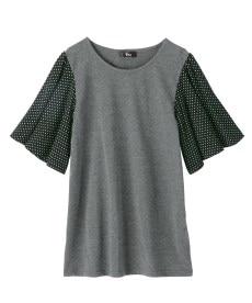 <ニッセン> 5分袖カットソー切替デザインチュニック (大きいサイズレディース)チュニックplus size 3