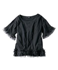 <ニッセン> 5分袖カットソー切替デザインチュニック (大きいサイズレディース)チュニックplus size 25