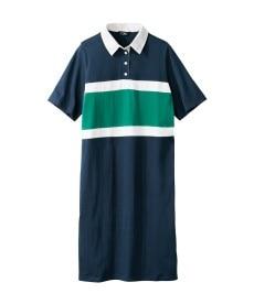 <ニッセン> 5分袖カットソー切替デザインチュニック (大きいサイズレディース)チュニックplus size 30