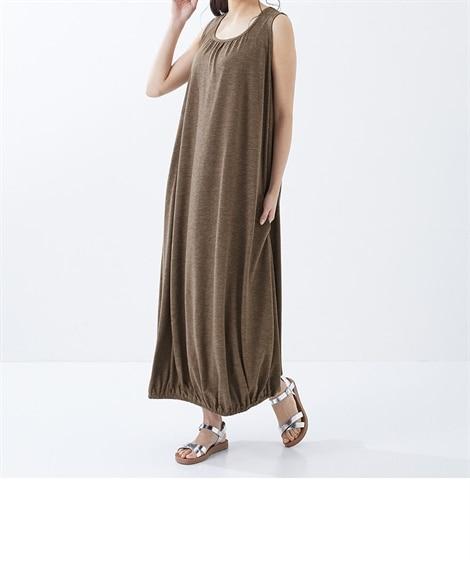 大きいサイズ ノースリーブカットソーバルーンワンピース(OtonaSMILE) ,スマイルランド, ワンピース, plus size dress
