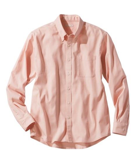 綿100%オックスフォードカジュアル長袖シャツ(消臭テープ付) カジュアルシャツ, Shirts,
