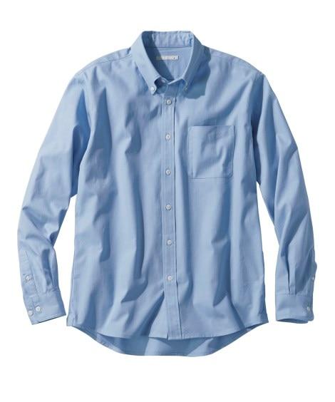 綿100%オックスフォードカジュアル長袖シャツ(消臭テープ付...