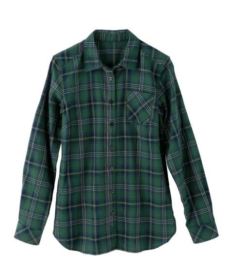 綿100%オックスフォードシャツ(チラ見え防止ボタン付) (...
