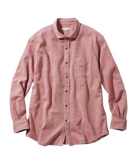 お腹ゆったりシャンブレー長袖シャツ カジュアルシャツ, Shirts, テレワーク, 在宅, リモート