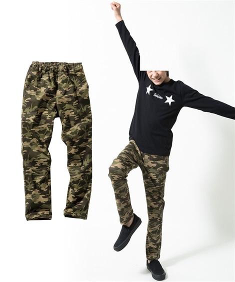 ab807fb4a1030 迷彩柄ストレッチツイルストレートパンツ(男の子。女の子 子供服。ジュニア服)