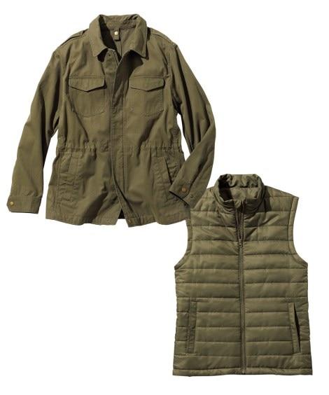 使い勝手をとことん追求した3WAYブルゾン(薄綿入ベスト付) ジャケット・ブルゾン, Jackets