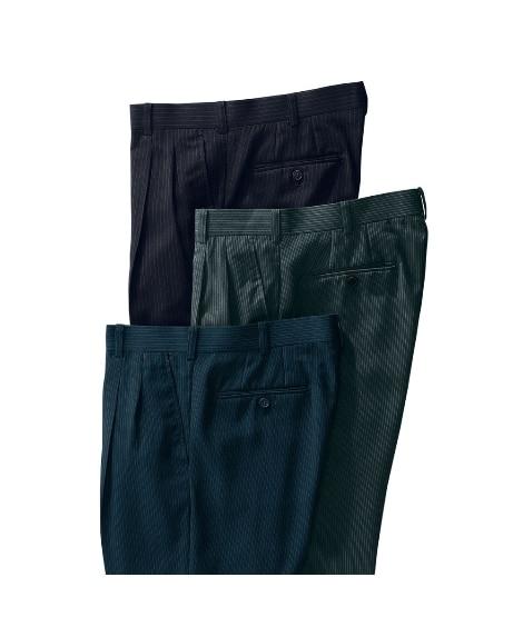 【紳士服】 ツータックパンツ3本組 メンズスラックス...