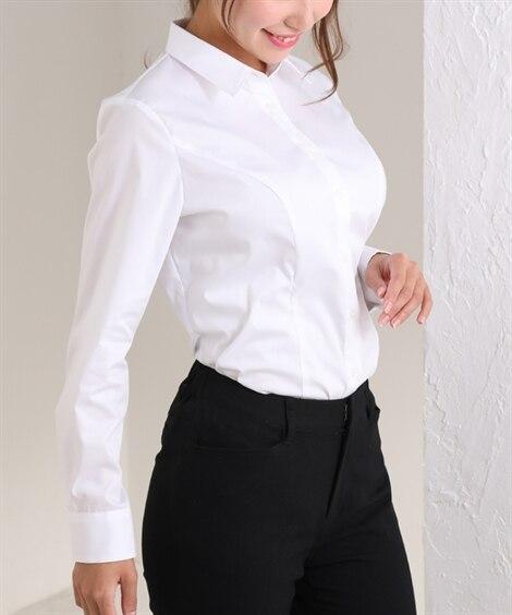 【大きい胸専用】レギュラーカラーシャツ グラマーサイズ...