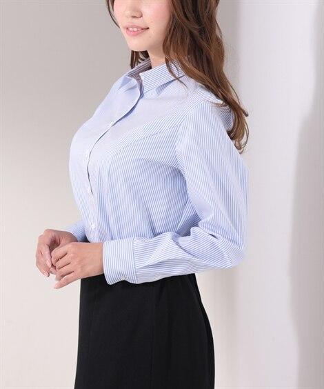 【大きい胸専用】レギュラーカラーシャツ グラマーサイズ