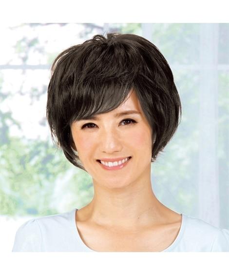 選べる人毛ヘアピース(ショート―ミディアムヘア)
