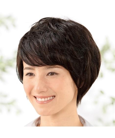 総手植え人毛100%広めヘアピース...