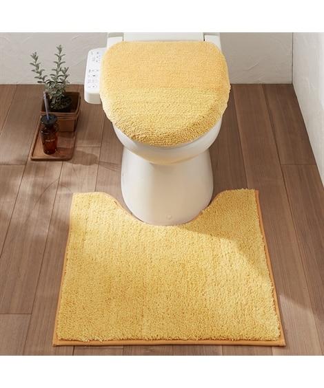 ふかふかのミックスシャギートイレタリー2点セット トイレマッ...