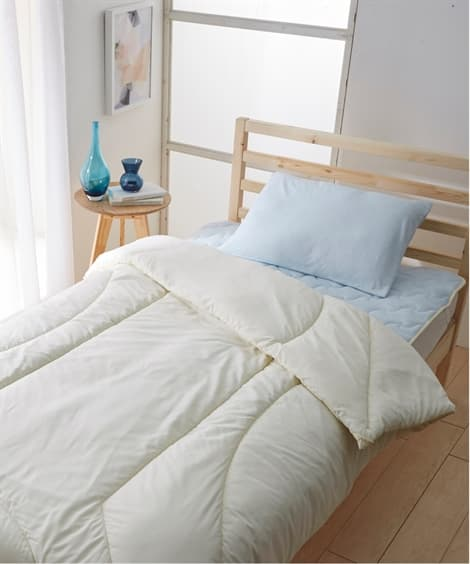 防ダニ。抗菌防臭ベッド用布団4点セット(綿100%肉厚ボリュ...