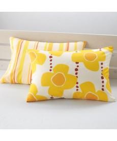 綿混プリントピローケース同色2枚組 枕カバー・ピローパッドの商品画像
