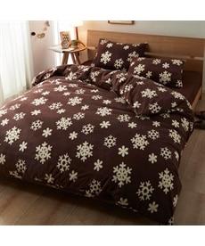 あったかマイクロフリース掛け布団カバー(雪柄) ブラックフォーマルの商品画像